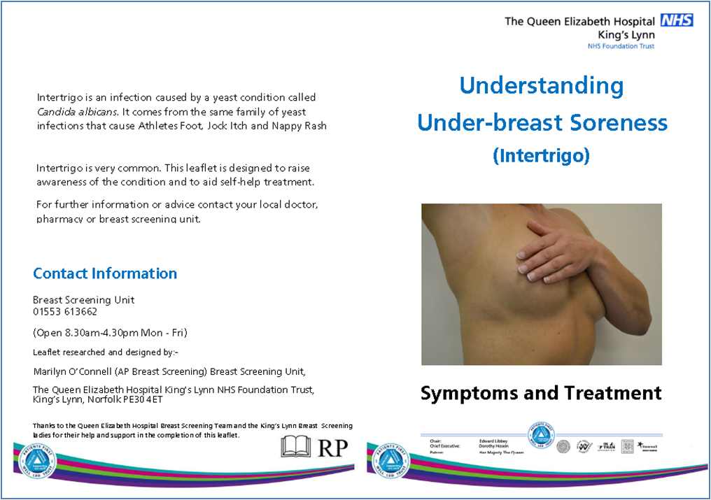 Undr breast soreness leaflet page 1