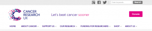 Image showing a screen grab of Cancer Research UK