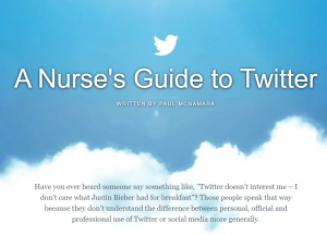 An image showing the Nurse's guide to Twitter