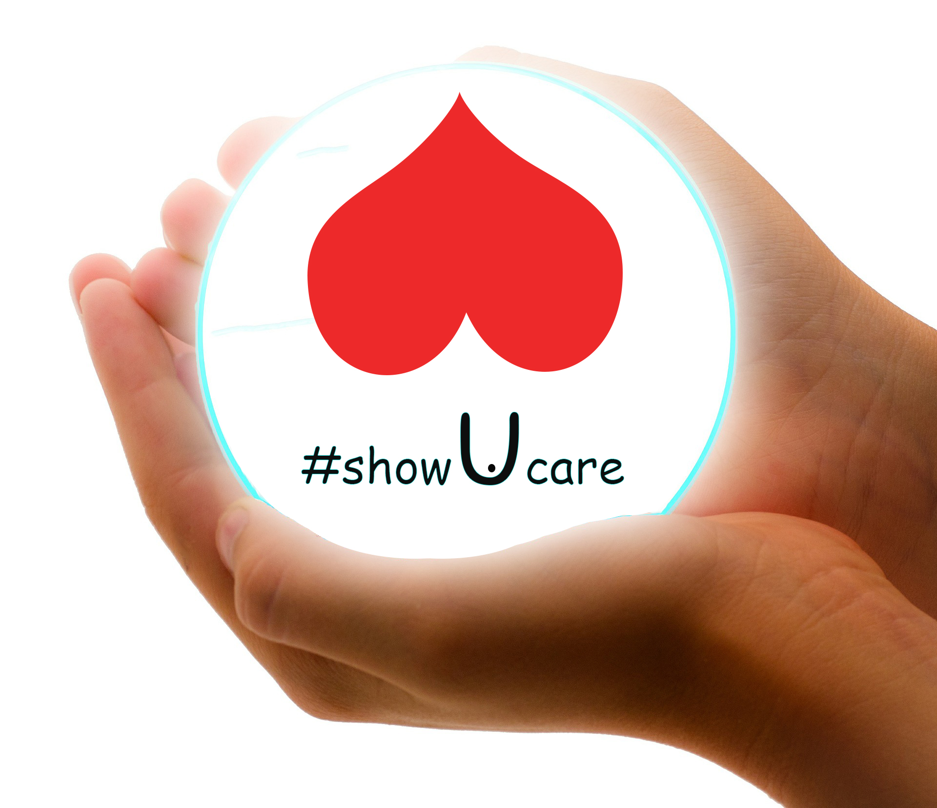 #showucare - image hands demonstrating care