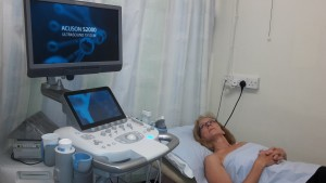 An ultrasound examination
