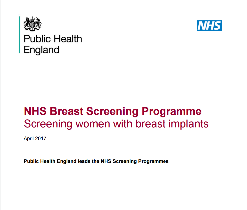 image showing the breast implant screening guidelines