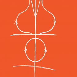 Image showing drawing of a mammogram