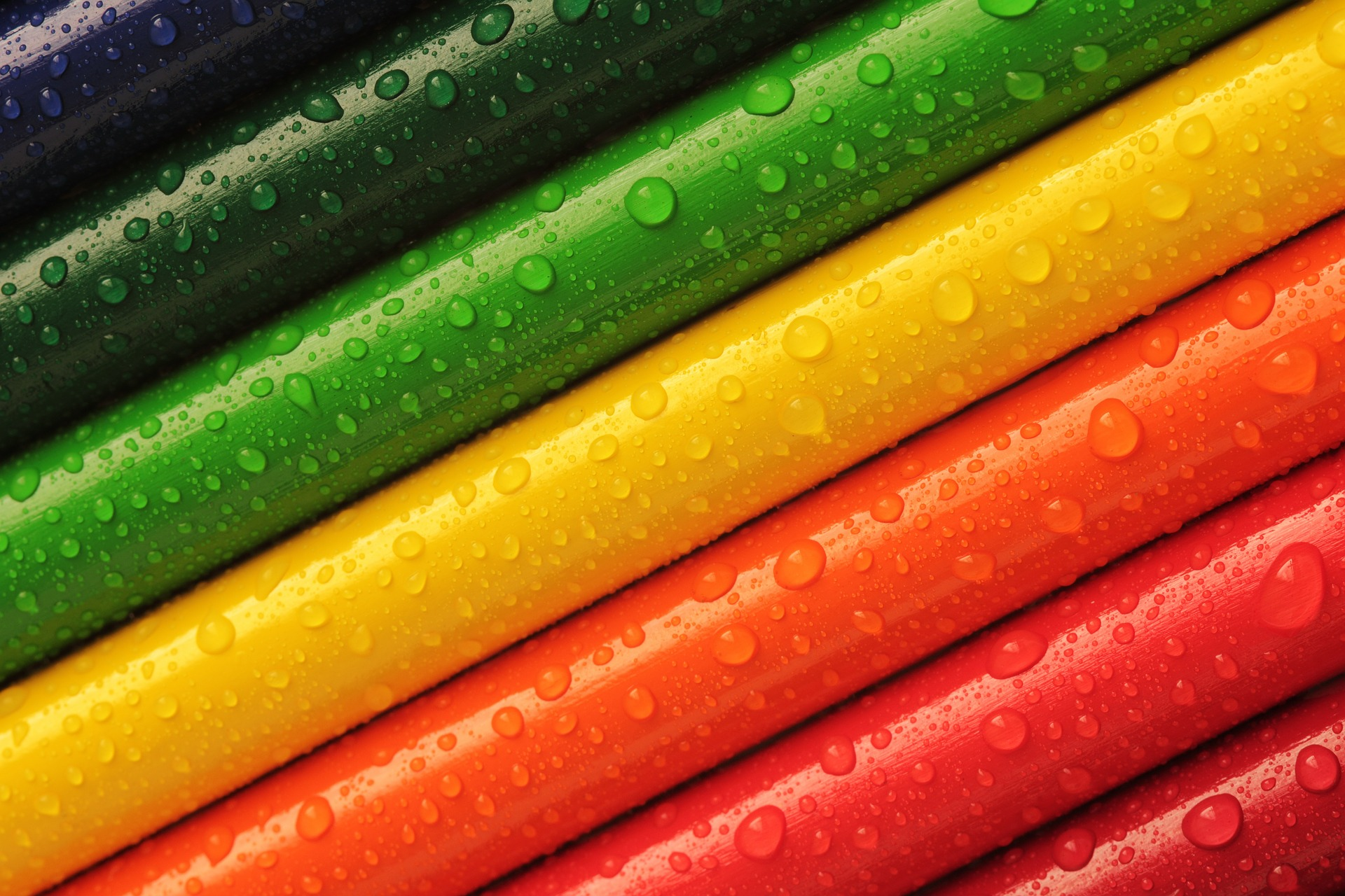 image showing a rainbow of colour