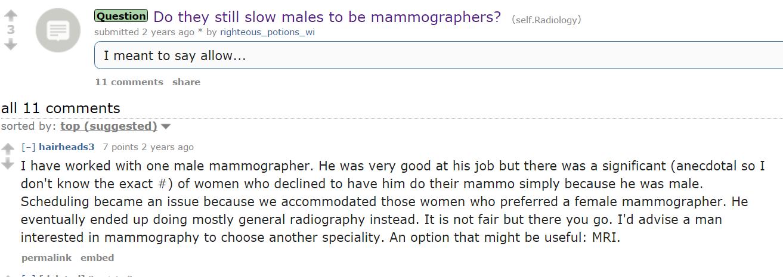 Can men be mammographer technicians? - Wommen Network