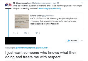 Image showing an extract from Twitter