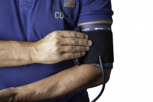 Image showing a blood pressure cuff on an arm